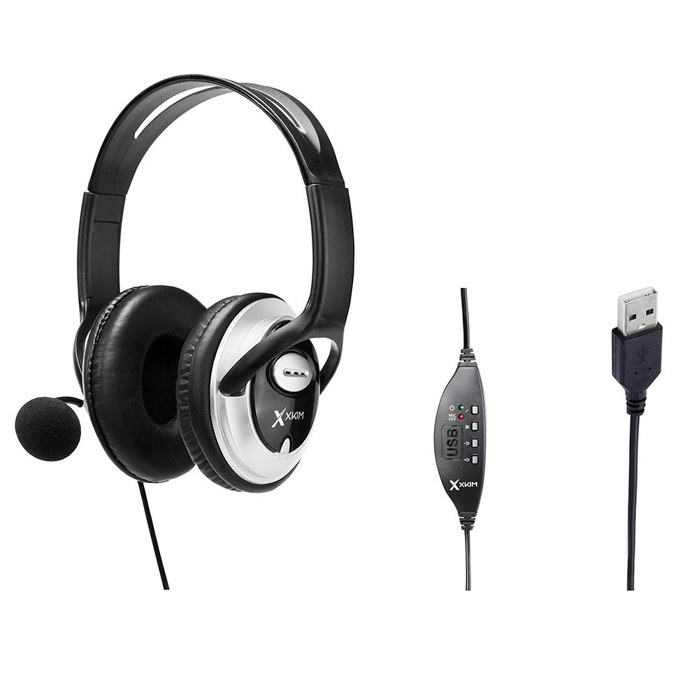 Diadema Con Microfono X-Kim Hf-868U Usb
