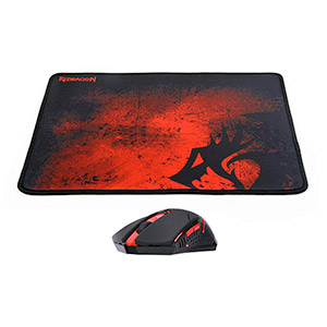 Combo Mouse Gamer Redragon + Pad Mouse Gaming M601Wl-Ba
