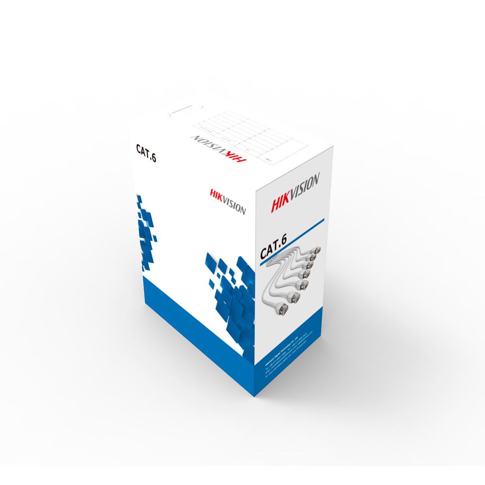 Cable Utp Cat 6 Hikvision 100% Cobre Ds-1Ln6-Ue-W Blanco