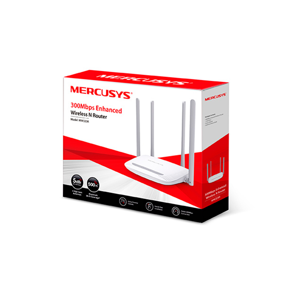 Router Inalambrico Mercusys MW325R 300Mbps 5dbi
