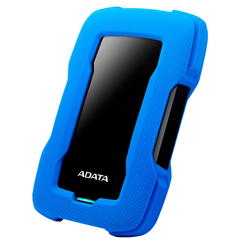 Disco Duro Externo Adata Hd330, 1Tb, Azul Negro Antigolpes