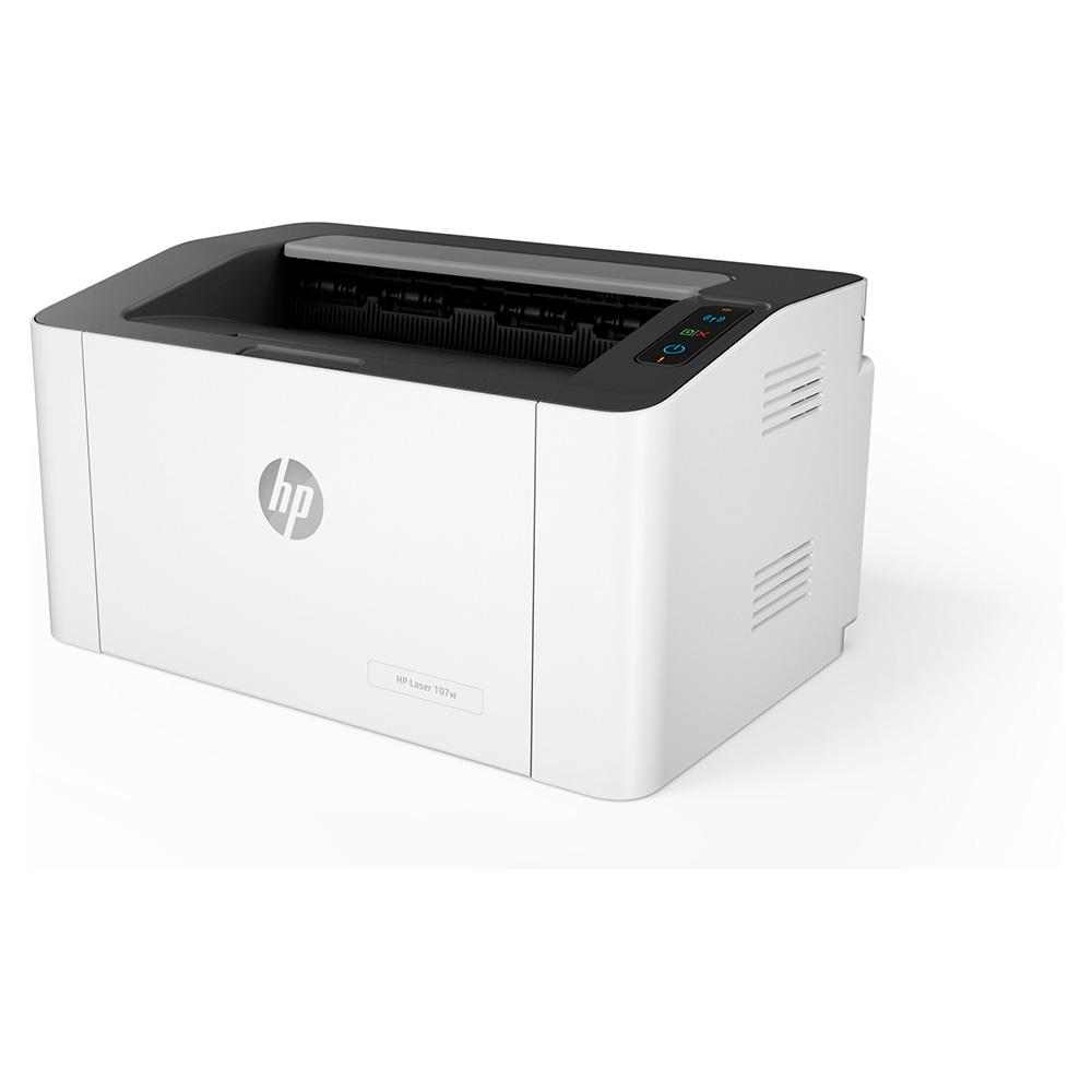 Impresora Hp Laser 107W Blanco Y Negro