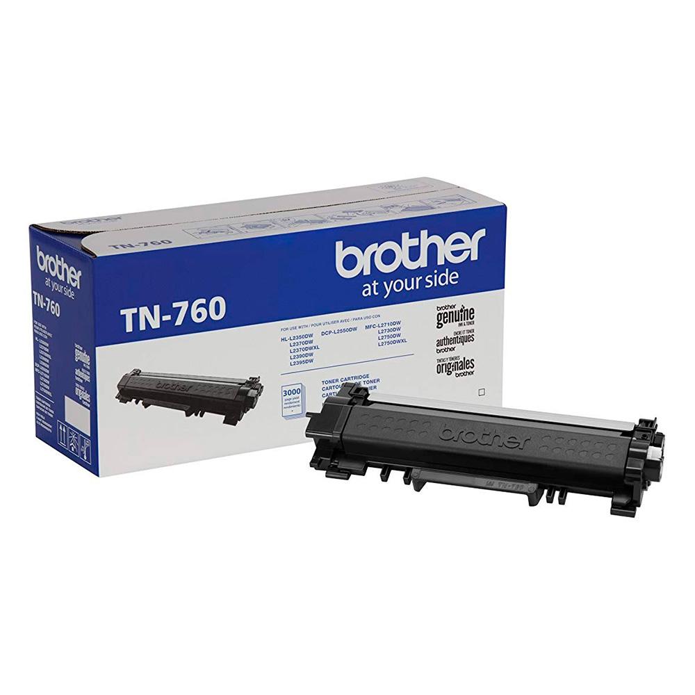 Toner Brother Tn760, Alto Rendimiento, 3.000 Paginas