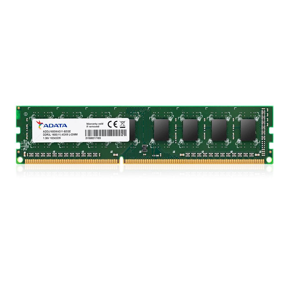 Adata Memoria Ram Para Pc 4Gb 1600Mhz Ddr3L 240Pin Unb