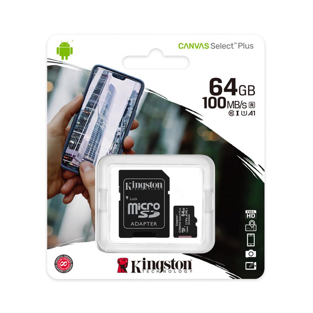 Kingston Microsd Canvas Select Plus 64 Gb Clase 12