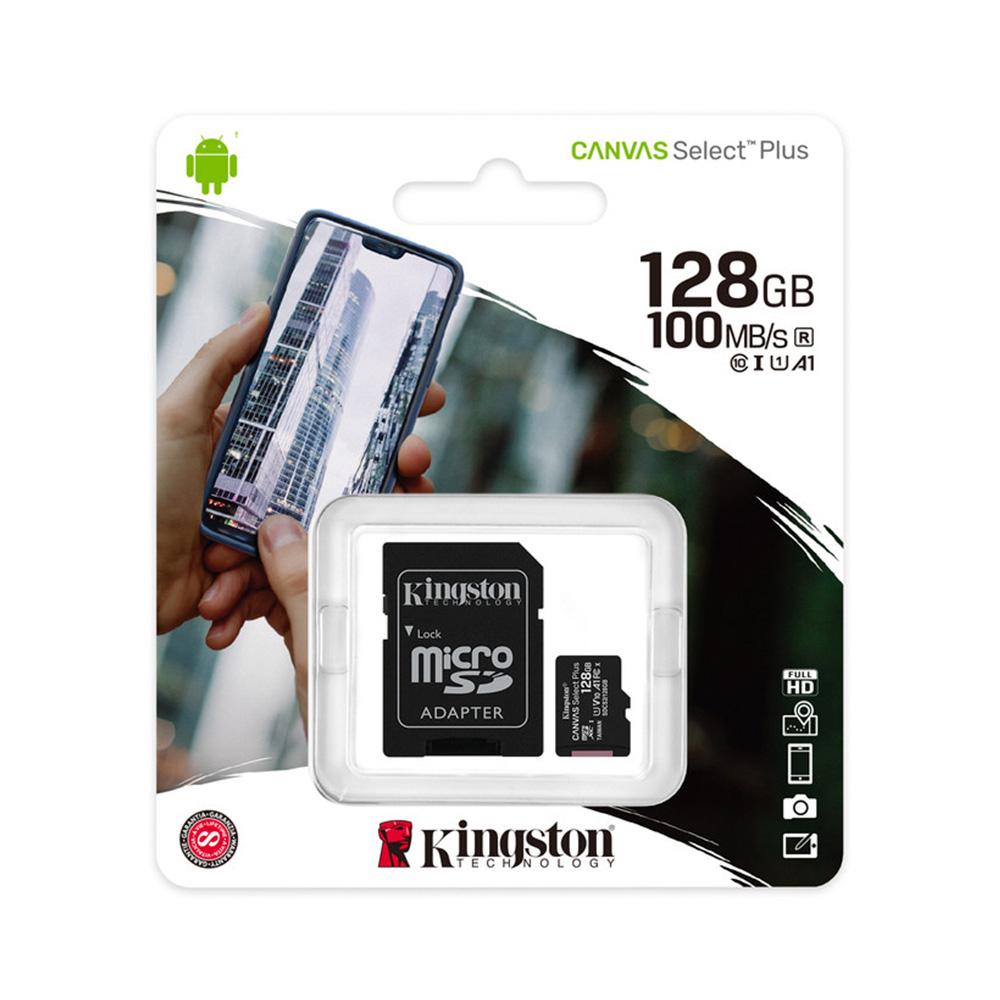 Memoria Micro Sd Kingston 128Gb Clase 10 De 100 Mbs