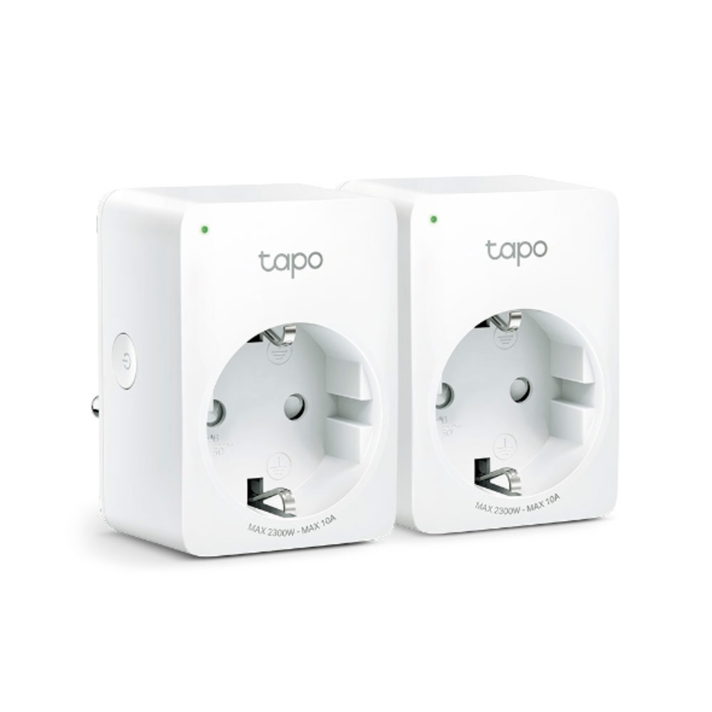 Mini Enchufe Inteligente Wifi, Tp-Link Tapo-P100(2-Pack)
