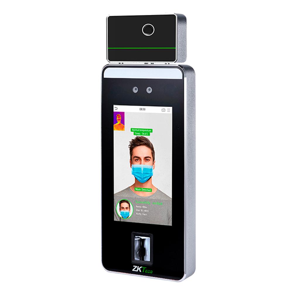 Control Acceso Reconocimiento Facial Y Temperatura Zkteco