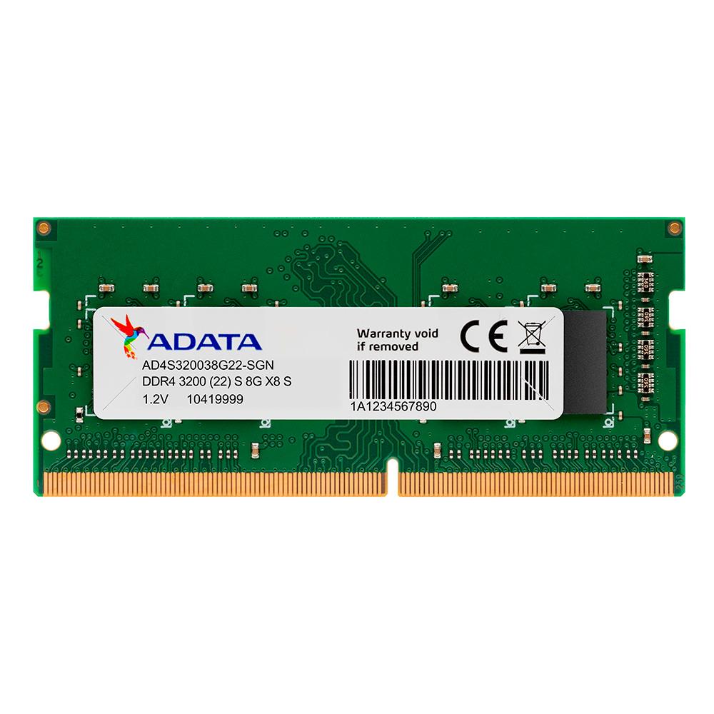 Adata Memoria Ram Ddr4 So Dimm 8gb 3200mhz Portatil Je